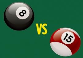 Cách phân biệt bida 15 bóng và bida 8 bóng
